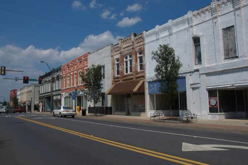 Cedartown GA Historic Downtown Main Street Photograph Copyrght Brian Brown Vanishing North Georgia USA 2014