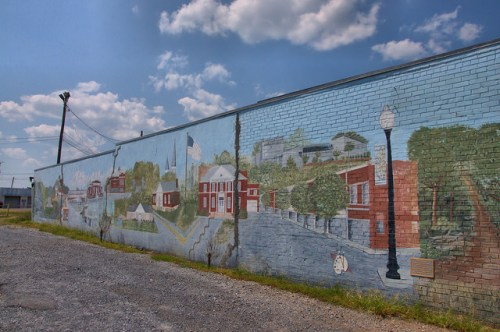Cedartown GA Mural Downtown Photograph Copyright Brian Brown Vanishing North Georgia USA 2014