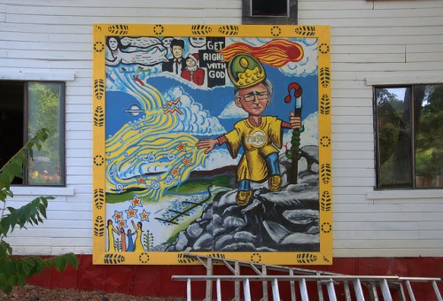 Howard Finster Tribute Folk Art Get Right with God at Paradise Garden Summerville GA Photograph Copyright Brian Brown Vanishing North Georgia USA 2014