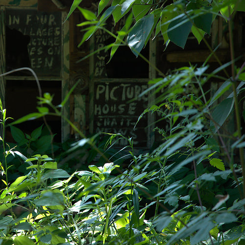 Howard Finsters Paradise Garden Picture House Sign Photograph Copyright Brian Brown Vanishing North Georgai USA 2014