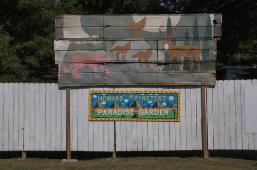 Howard Finsters Paradise Garden Summerville GA WIldlife Painting on Tin Folk Art Signs Photograph Copyright Brian Brown Vanishing North Georgia USA 2014