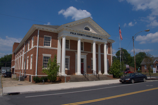 Polk County Courthouse Cedartown GA Photograph Copyright Brian Brown Vanishing North Georgia USA 2014