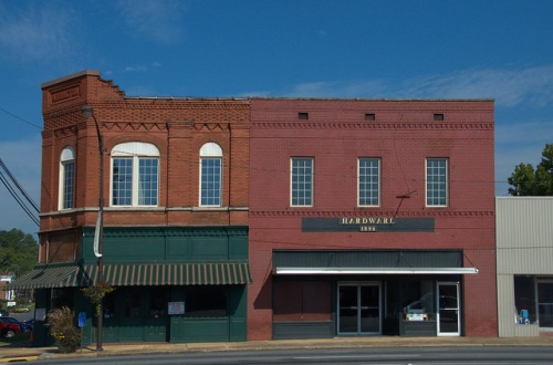 Summerville GA Historic Downtown Arrington Building and Hardware Photograph Copyright Brian Brown Vanishing North Georgia USA 2014