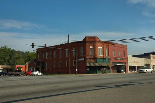 Summerville GA Historic Downtown Photograph Copyright Brian Brown Vanishing North Georgia USA 2014