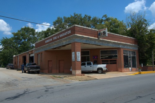 Bowdon GA Tire and Radiator Shop Garage Photograph Copyright Brian Brown Vanishing North Georgia USA 2014