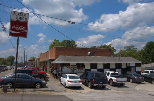 Burger Chick Tallapoosa GA Restaurant Local Landmark Photograph Copyright Brian Brown Vanishing North Georgia USA 2014