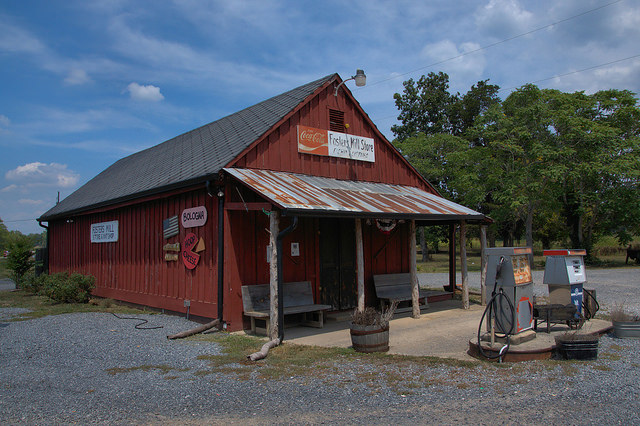 Fosters Mill GA Floyd County Country Store Photograph Copyright Brian Brown Vanishing North Georgia USA 2014