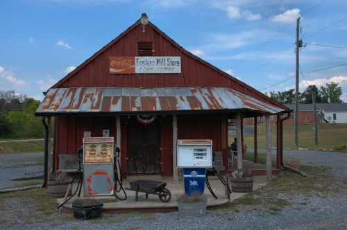 Fosters Mill Store Floyd County GA Photograph Copyright Brian Brown Vanishing North Georgia USA 2014