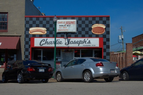 LaGrange GA Charlie Josephs Restaurant Landmark Diner Hot Dogs Hamburgers Photograph Copyright Brian Brown Vanishing North Georgia USA 2014