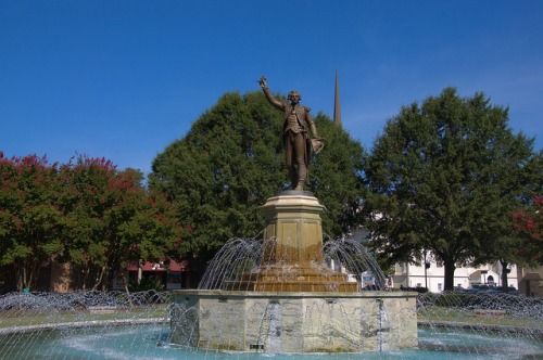 LaGrange GA LaFayette Square Fountain Photograph Copyright Brian Brown Vanishing North Georgia USA 2014