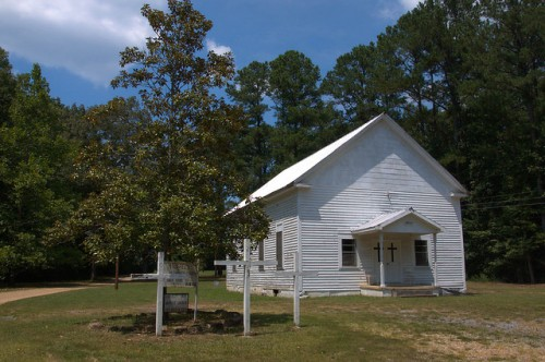 Prospect Methodist Church Floyd County GA Photograph Copyright Brian Bown Vanishing North Georgia USA 2014