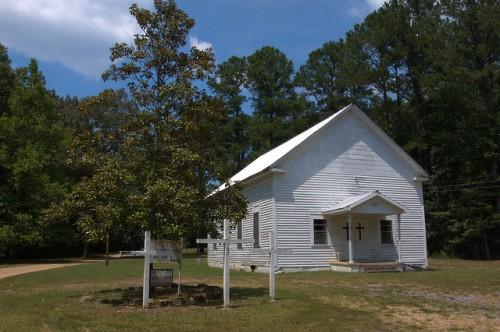 Prospect Methodist Church Floyd County GA Photograph Copyright Brian Bown Vanishing North Georgia USA 2014