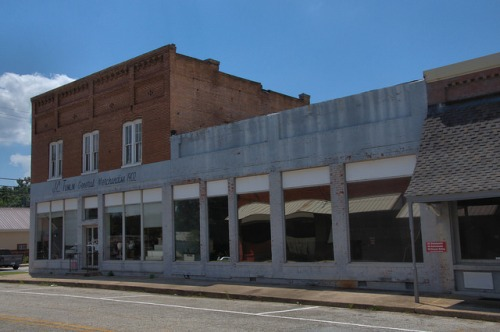 Tallapoosa GA Haralson County J C Tumlin General Merchandise Downtown Landmark Photograph Copyright Brian Brown Vanishing North Georgia USA 2014