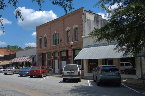 Tallapoosa GA Historic Downtown Head Avenue Renovations Photograph Copyright Brian Brown Vanishing North Georgia USA 2014