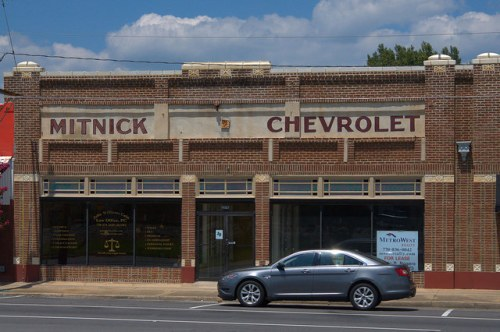 Tallapoosa GA Old Mitnick Chevrolet Building Photograph Copyright Brian Brown Vanishing North Georgia USA 2014
