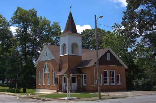 Tallapoosa GA Pentecostal Holiness Originally ME Church Photograph Copyright Brian Brown Vanishing North Georgia USA 2014
