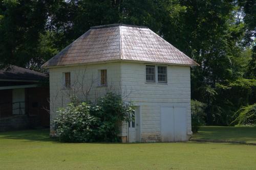 Tallapoosa GA Pressed Tin Garage Apartment Photograph Copyright Brian Brown Vanishing North Georgia USA 2014