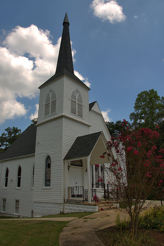 Tallapoosa Presbyterian Church Haralson County GA Photograph Copyright Brian Brown Vanishing North Georgia USA 2014