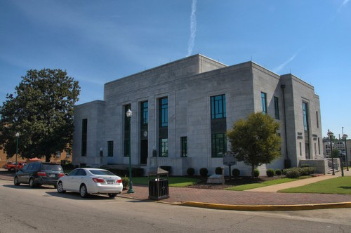 Troup County Courthouse LaGrange GA Photograph Copyright Brian Brown Vanishing North Georgia USA 2014