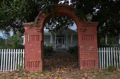 Jewell GA Warren County Gothic Revival House Arch Entryway Photograph Copyright Brian Brown Vanishing North Georgia USA 2014