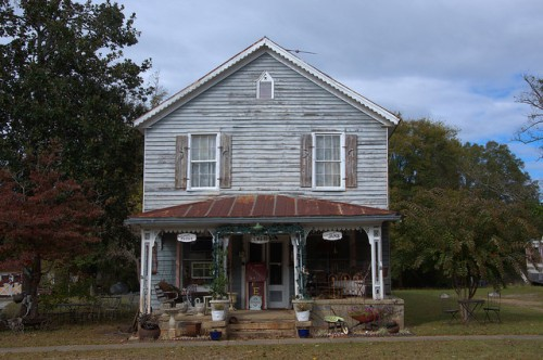 Jewell GA Warren County Old Country Store Now Antique Store Tea Room Photograph Copyright Brian Brown Vanishing North Georgia USA 2014