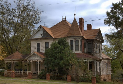 Jewell GA Warren County Victorian House Photograph Copyright Brian Brown Vanishing North Georgia USA 2014