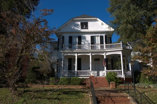 Milledgeville GA Baldwin County Bearden Montgomery House Photograph Copyright Brian Brown Vanishing North Georgia USA 2014