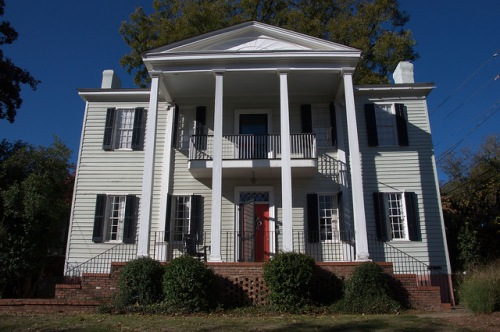 Milledgeville GA Baldwin County Historic Antebellum Landmark House Photograph Copyright Brian Brown Vanishing North Georgia USA 2014