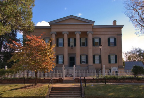 Milledgeville GA Baldwin County Old Governors Executive Mansion National Historic Landmark Photograph Copyright Brian Brown Vanishing North Georgia USA 2014