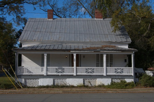 Milledgeville GA Baldwin County Unidentified Possible Antebellum Home Photograph Copyright Brian Brown Vanishing North Georgia USA 2014