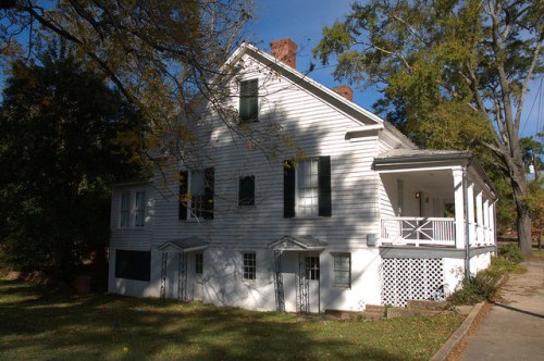Milledgeville GA Baldwin County Unidentified Possible Antebellum House Photograph Copyright Brian Brown Vanishing North Georgia USA 2014