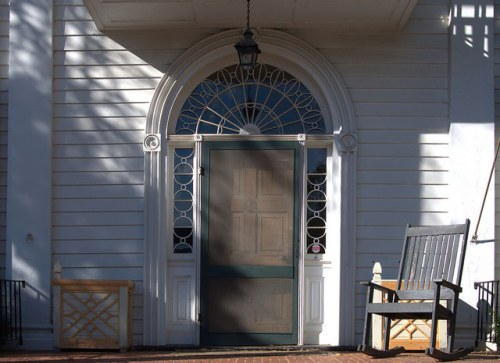 Milledgeville GA Baldwin County Williams Orme Sallee House Front Door Photograph Copyright Brian Brown Vanishing North Georgia USA 2014