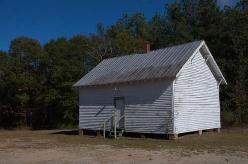 One Room School House at Trinity CME Church African American Hancock County GA Photograph Copyright Brian Brown Vanishing North Georgia USA 2014