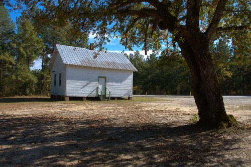 One Room School House Trinity CME Church African American Hancock County GA Photograph Copyright Brian Brown Vanishing North Georgia USA 2014