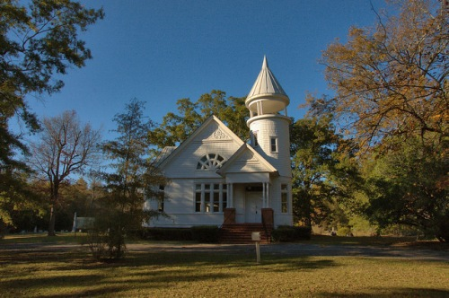 Sharon United Methodist Church Taliaferro County GA Photograph Copyright Brian Brown Vanishing North Georgia USA 2014