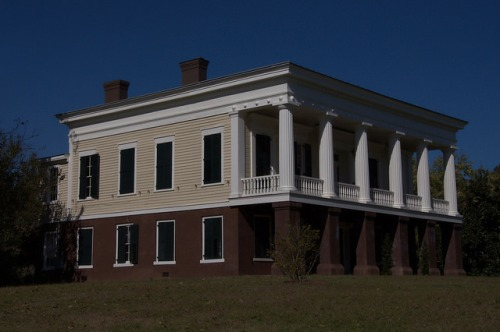 Glen Mary Plantation Hancock County GA Antebellum Greek Revival Landmark Photograph Copyright Brian Brown Vanishing North Georgia USA 2014