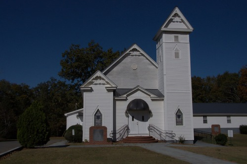 Historic Second Beulah Baptist Church Hancock County GA Photograph Copyright Brian Brown Vanishing North Georgia USA 2014