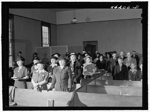 Services at White Plains Methodist Church Jack Delano 1941 Library of Congress