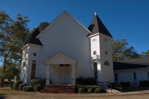 Siloam Baptist Church Greene County GA Photograph Copyright Brian Brown Vanishing North Georgia USA 2014