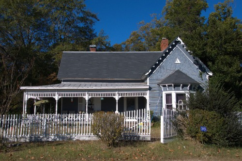 Siloam GA Greene County Folk Victorian House Photograph Copyright Brian Brown Vanishing North Georgia USA 2014