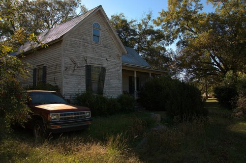 Siloam GA Greene County Folk Victorian House S10 Truck Photograph Copyright Brian Brown Vanishing North Georgia USA 2014
