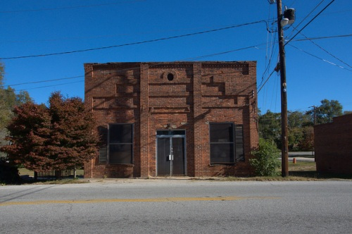 Siloam GA Greene County Historic Commercial Building Photograph Copyright Brian Brown Vanishing North Georgia USA 2014