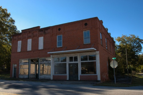 Siloam GA Historic District Downtown Historic Commercial Storefront Photograph Copyright Brian Brown Vanishing North Georgia USA 2014