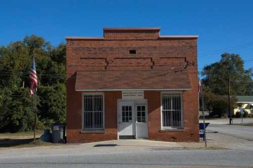 Siloam GA US Post Office Photogrraph Copyright Brian Brown Vanishing North Georgia USA 2014