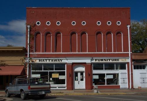 Sparta GA Hattaway Furniture Store Building Photograph Copyright Brian Brown Vanishing North Georgia USA 2014