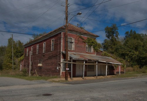 Sparta GA Old Store Building Photograph Copyright Brian Brown Vanishing North Georgia USA 2014