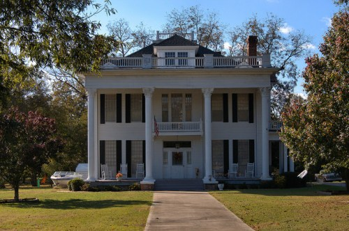 White Plains GA Greene County Neoclassical Revival House Photograph Copyright Brian Brown Vanishing North Georgia USA 2014
