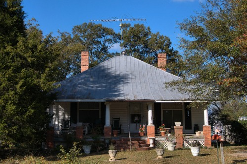 White Plains GA Greene County Pyramidal Roof House Photograph Copyright Brian Brown Vanishing North Georgia USA 2014
