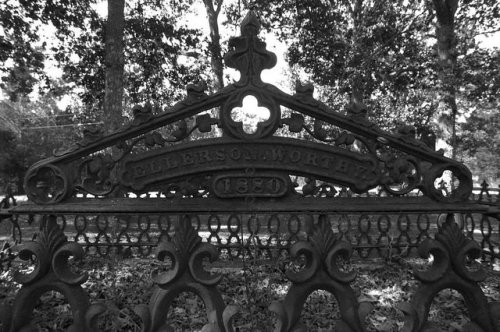 Zebulon Methodist Church Hancock County GA Iron Cemetery Gate Photograph Copyright Brian Brown Vanishing South Georgia USA 2014