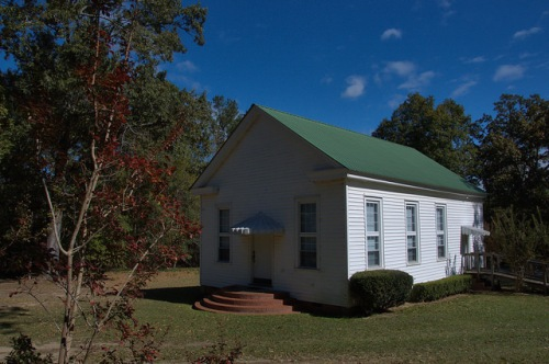Zebulon Methodist Church Hancock County GA Photograph Copyright Brian Brown Vanishing North Georgia USA 2014